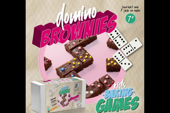 Bak pakket brownie domino