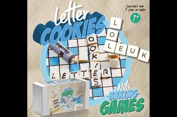 Kids bakpakket letter cookies